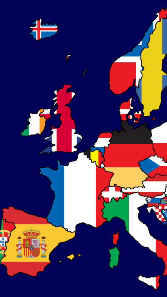 Europe Map Flags Iphone  Wallpaper